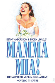 Mamma Mia! on Stage at the Novello Theatre in London
