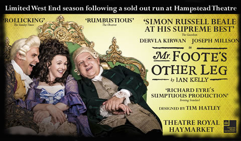 Mr Foote's Other Leg at Theatre Royal Haymarket tickets