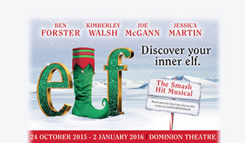 Elf! the Musical at Dominion Theatre tickets