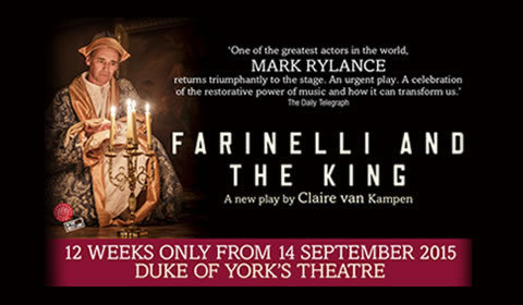 Farinelli and the King at Duke of York's Theatre tickets