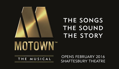 Motown the Musical Logo & Poster - Shaftesbury Theatre, London