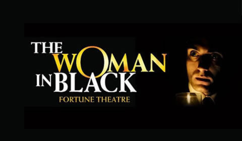 The Woman in Black Logo & Poster - Fortune Theatre, London