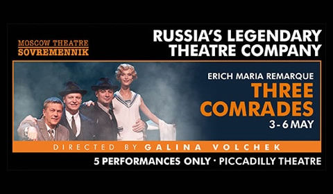 Three Comrades at Piccadilly Theatre tickets
