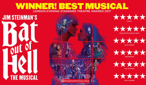 Bat Out Of Hell - The Musical at Dominion Theatre tickets
