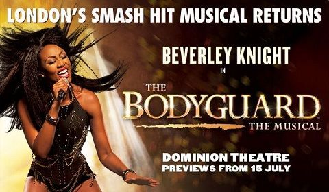 The Bodyguard at Dominion Theatre tickets