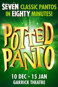 Potted Panto on Stage at the Garrick Theatre in London
