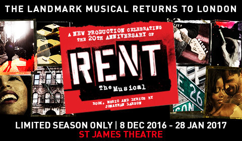 Rent at The Other Palace tickets