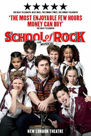 School Of Rock The Musical on Stage at the New London Theatre in London