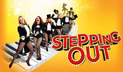 Stepping Out Logo & Poster - Vaudeville Theatre, London