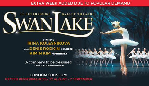 St. Petersburg Ballet - Swan Lake at London Coliseum tickets