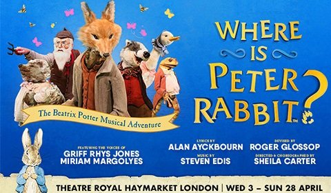 Where is Peter Rabbit? at Theatre Royal Haymarket tickets