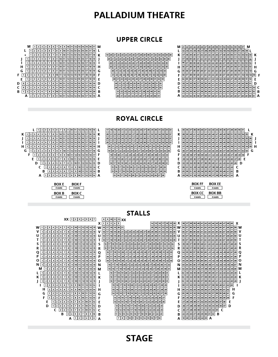 London Palladium seating plan