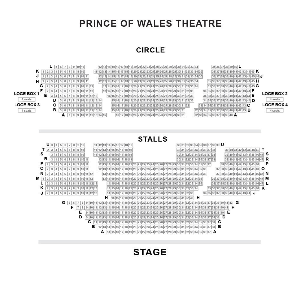 Prince of Wales Theatre seating plan