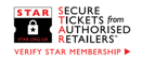 SECURE TICKETS from AUTHORISED RETAILERS