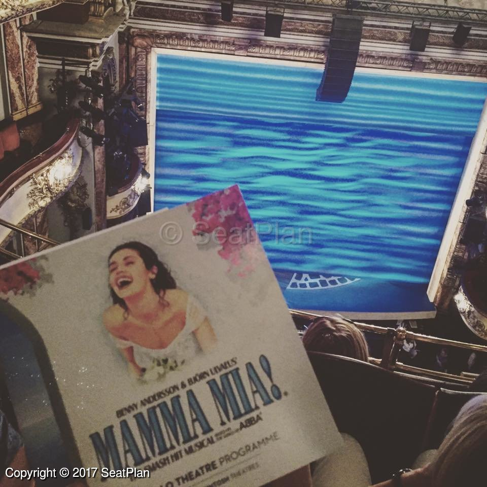 Mamma mia tickets london 278 reviews seatplan for Balcony novello theatre